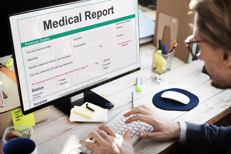 Medical Report Record Form History Patient Concept. Medical Report Record Form History Patient royalty free stock photography