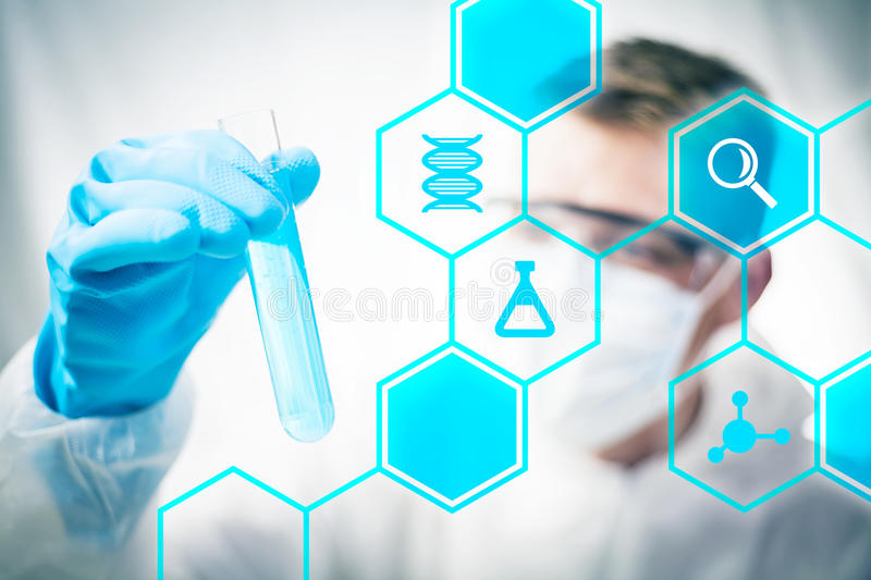 Medical research. And chemistry science royalty free stock images