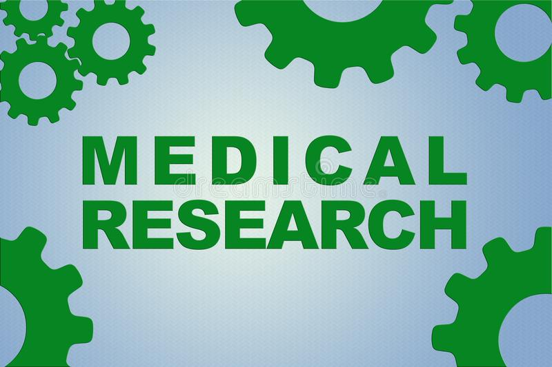 MEDICAL RESEARCH concept stock illustration