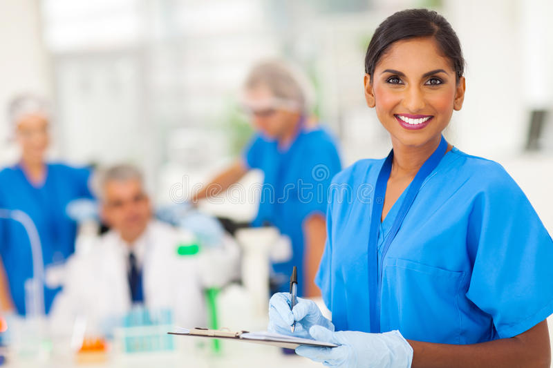 Medical researcher report royalty free stock photo