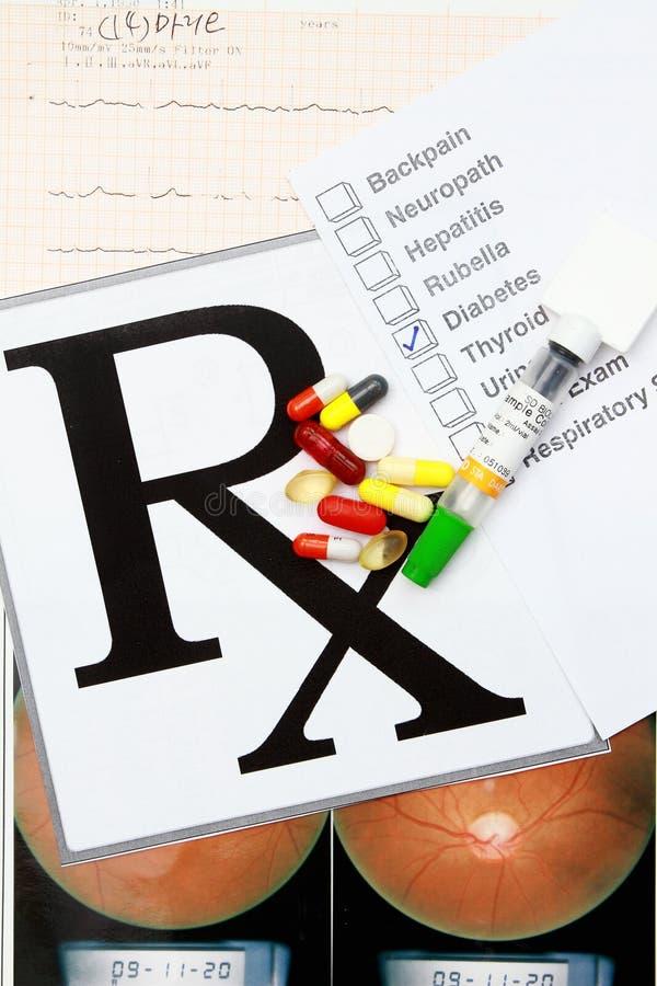 Medical result stock image