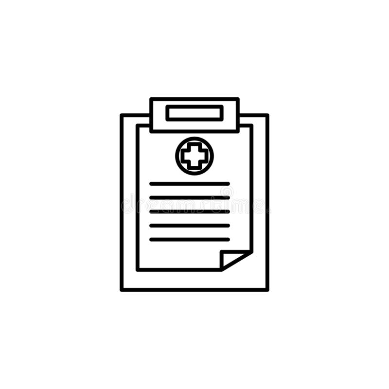 medical result icon. Element of blood donation for mobile concept and web apps illustration. Thin line icon for website design and vector illustration