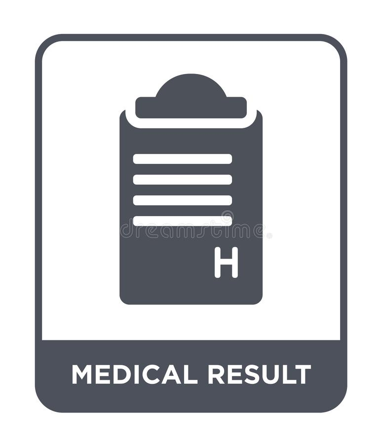 medical result icon in trendy design style. medical result icon isolated on white background. medical result vector icon simple royalty free illustration