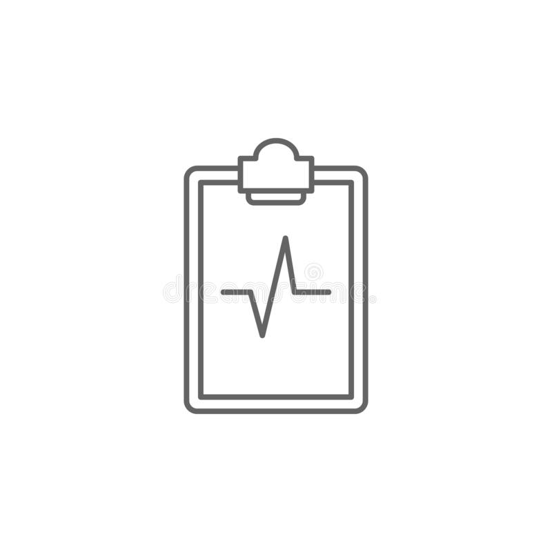 Medical result, notepad icon. Element of medicine icon. Thin line icon royalty free illustration