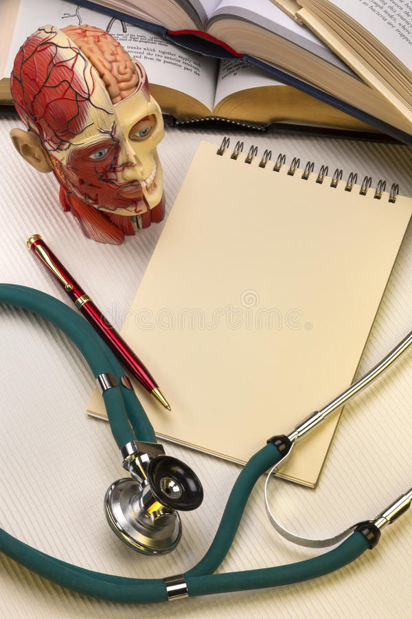 Medical School - Notepad - Space for Text stock image