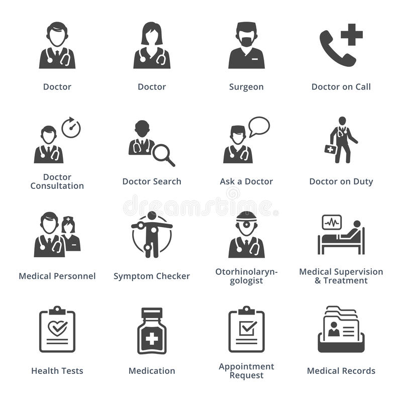 Medical Services Icons Set 3 - Black Series royalty free illustration
