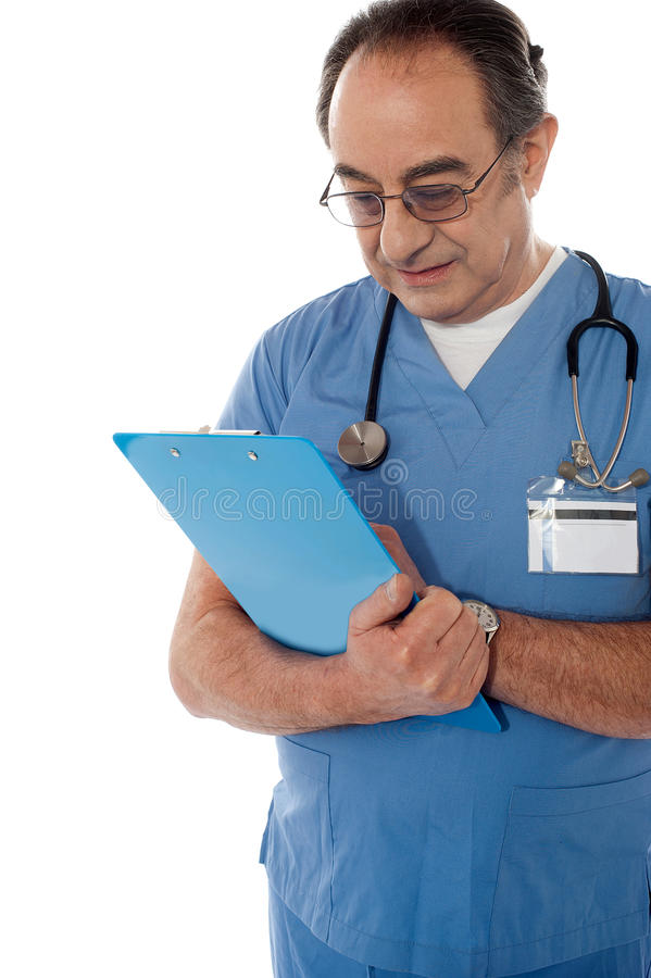 Download Medical Specialist Studying Report Stock Photography - Image: 24613722