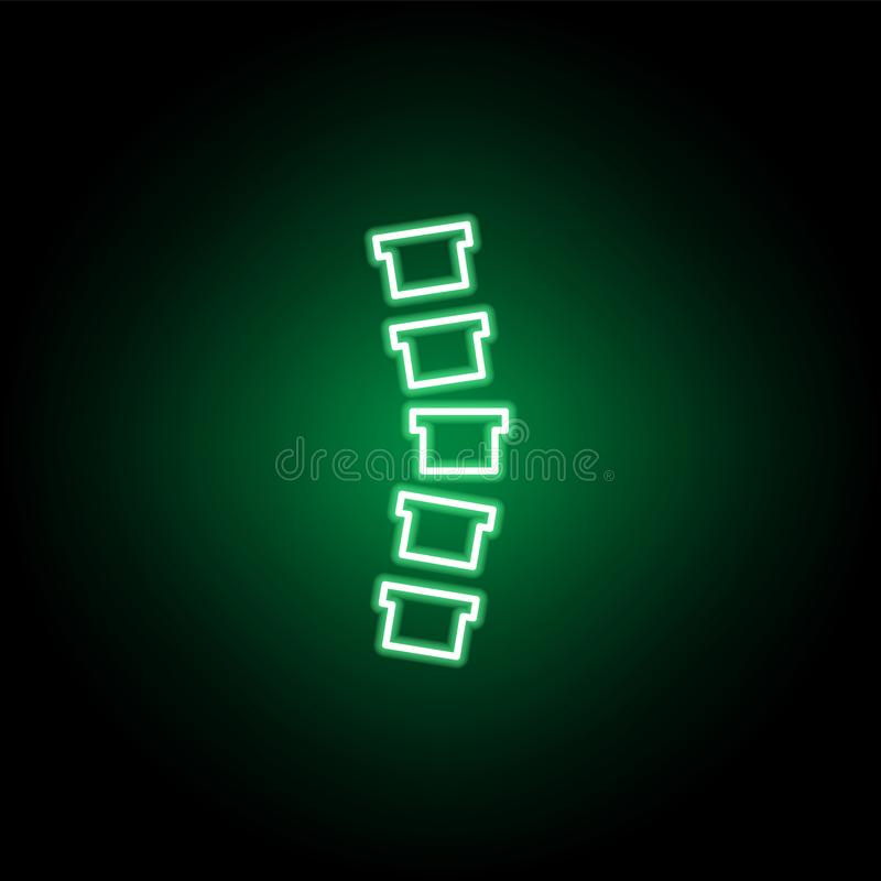 Medical, spinal column icon in neon style. Element of medicine illustration. Signs and symbols icon can be used for web, logo, stock illustration