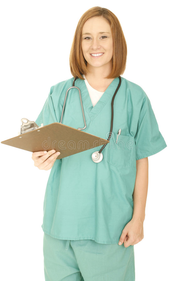 Medical Staff Hand Over Clip Board Stock Photos
