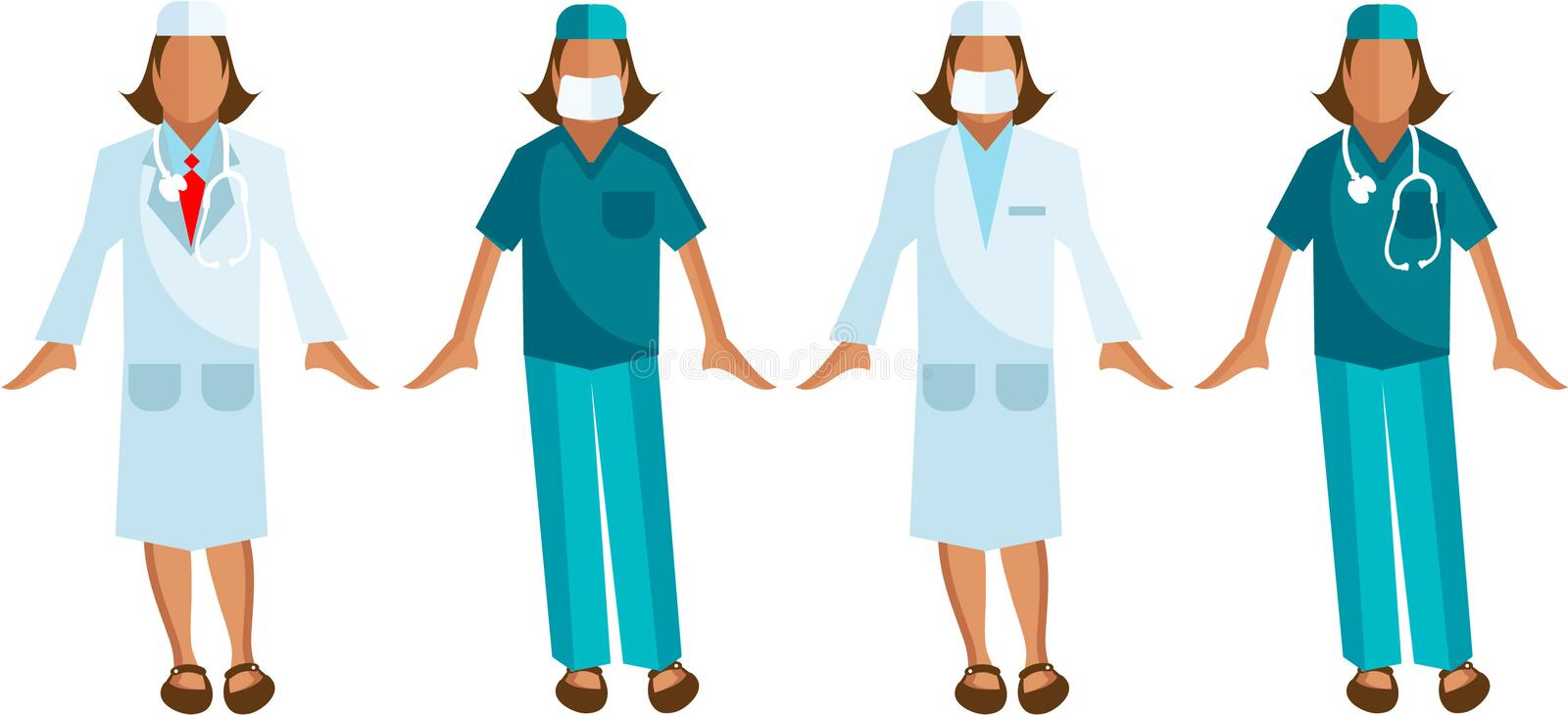 Download Medical Staff Vector Surgeon, Woman Doctor Stock Illustration - Image: 15050955
