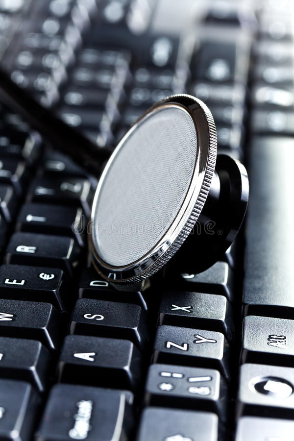 Download Medical Stethoscope On Computer Keyboard Stock Photo - Image: 26462102