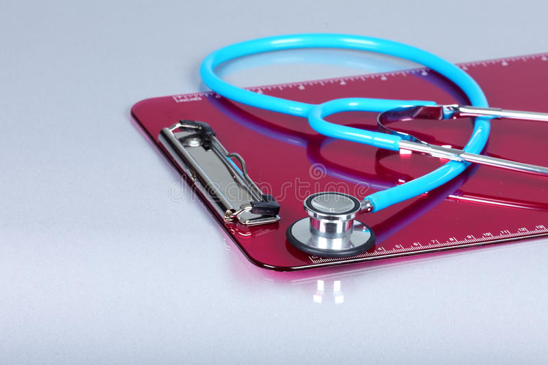 Medical stethoscope. Health care service concept background stock images