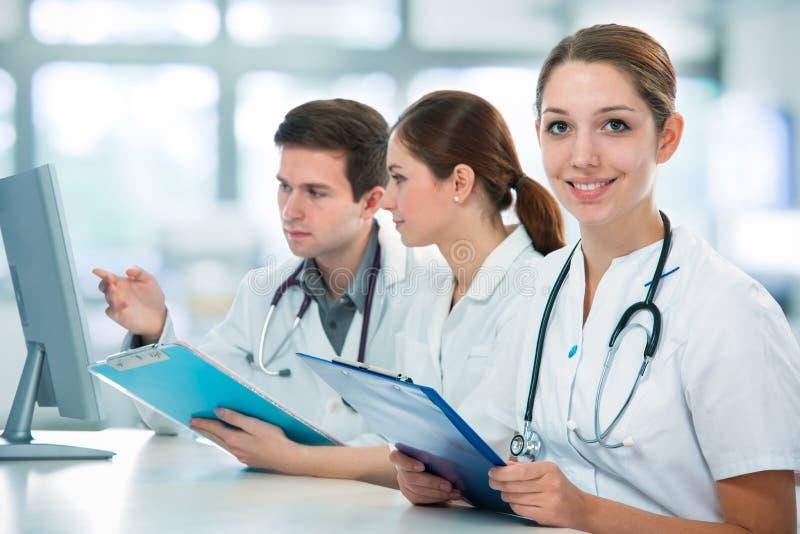 Medical students royalty free stock photos