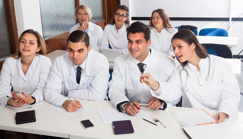 Medical students sitting in audience. Usualy Medical students sitting in audience royalty free stock photo