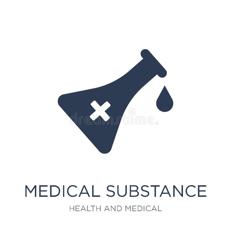 medical Substance icon. Trendy flat vector medical Substance icon on white background from Health and Medical collection royalty free illustration