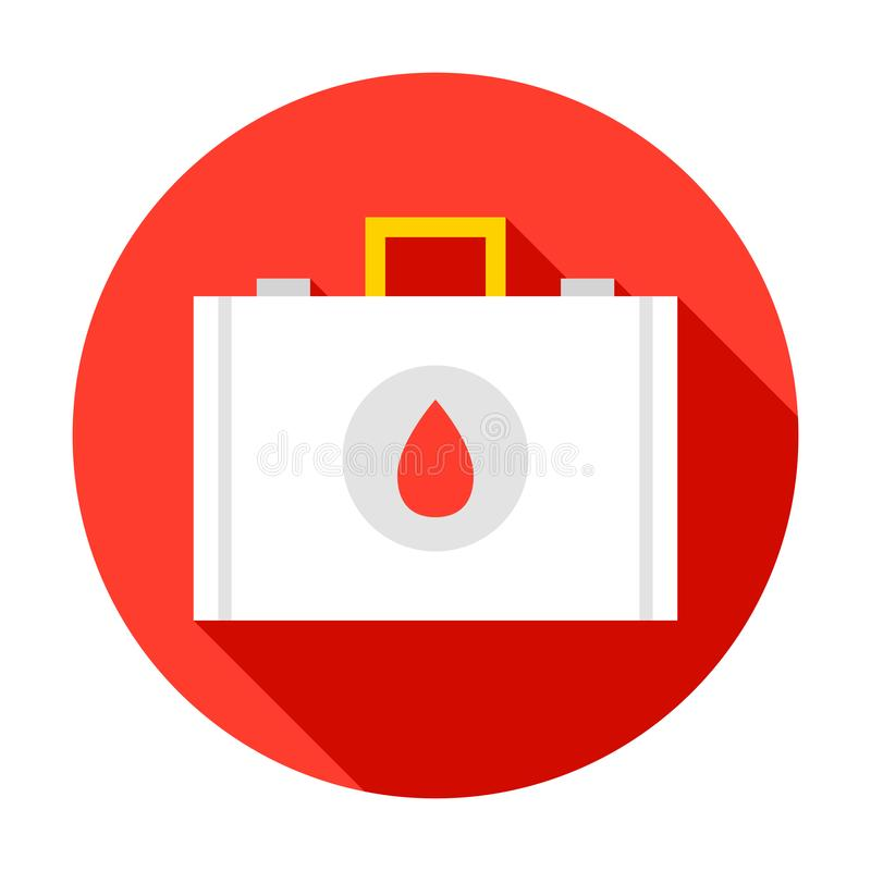 Medical Suitcase Circle Icon vector illustration