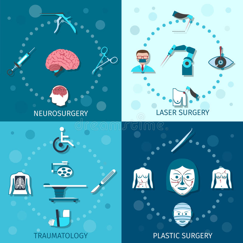 Medical surgery set stock illustration