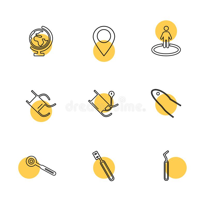 Medical , surgury , tools , hospital , heatlh , navigation , eps icons set vector. Medical , surgury , tools , hospital , heatlh , navigation , blood pressure vector illustration