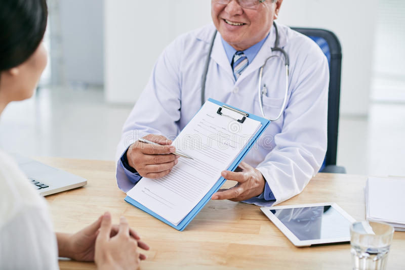 Medical survey royalty free stock photo
