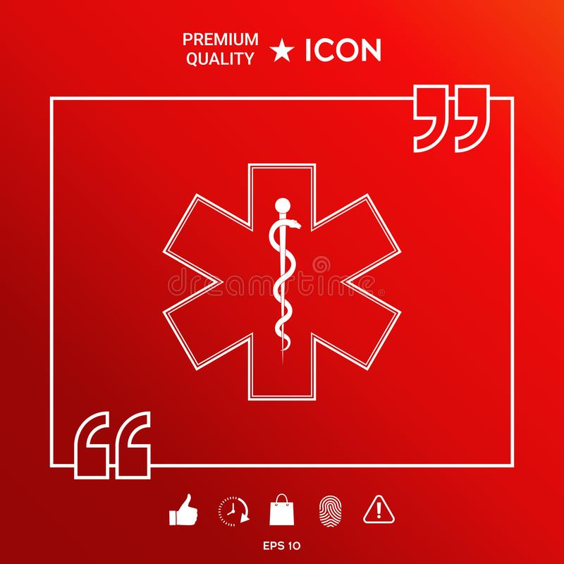 Medical Symbol Of The Emergency Star Of Life Icon Stock Vector