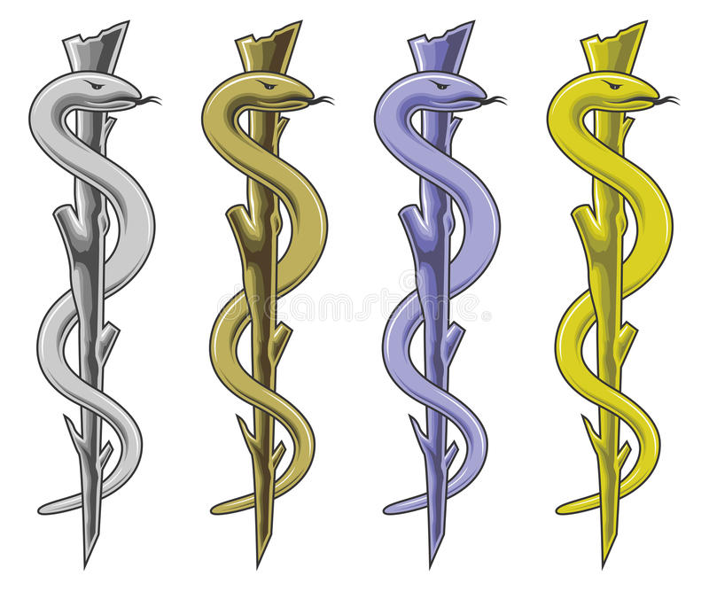 Medical Symbol Rod Of Asclepius Stock Vector Illustration Of
