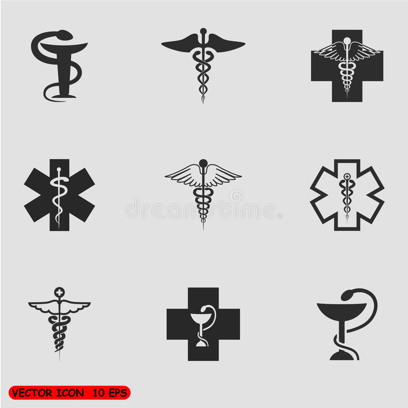 Medical symbol set. Vector royalty free stock photos