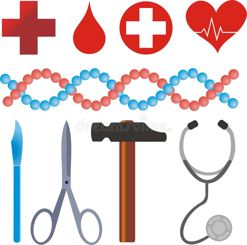 Medical symbols royalty free stock photo
