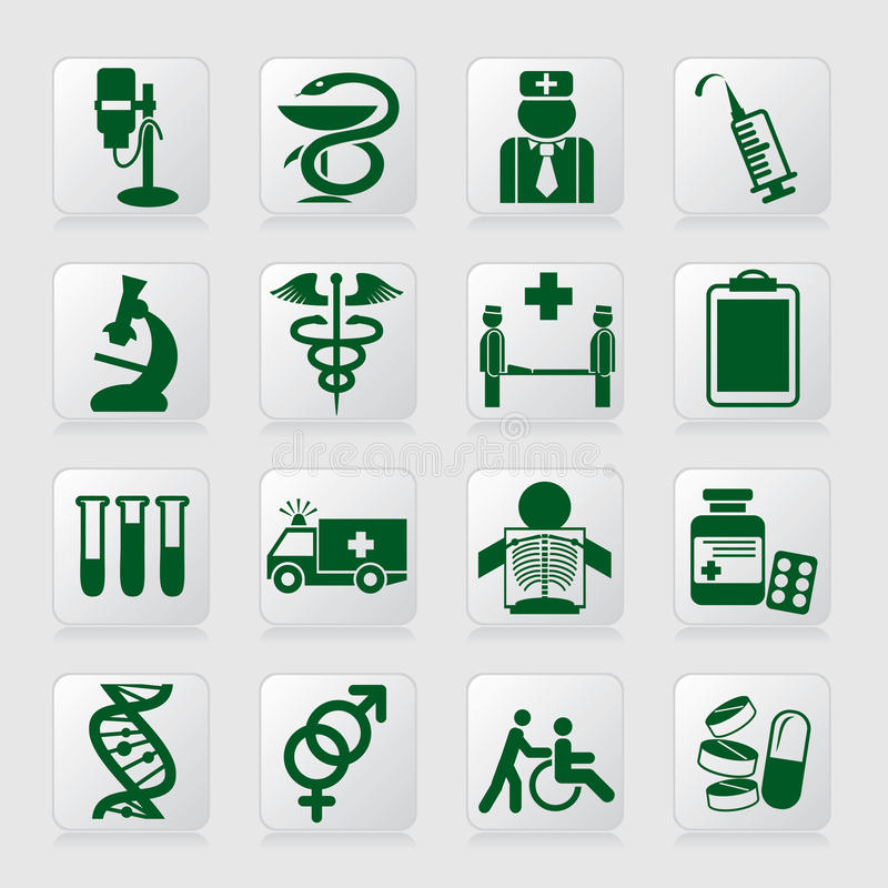 Medical symbols royalty free illustration