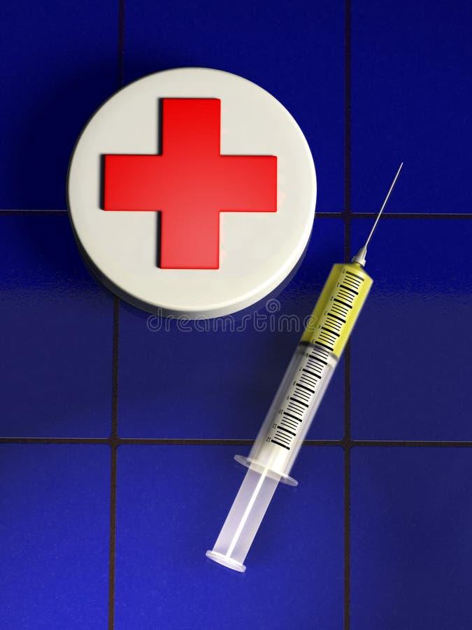 medical syringe 图库摄影