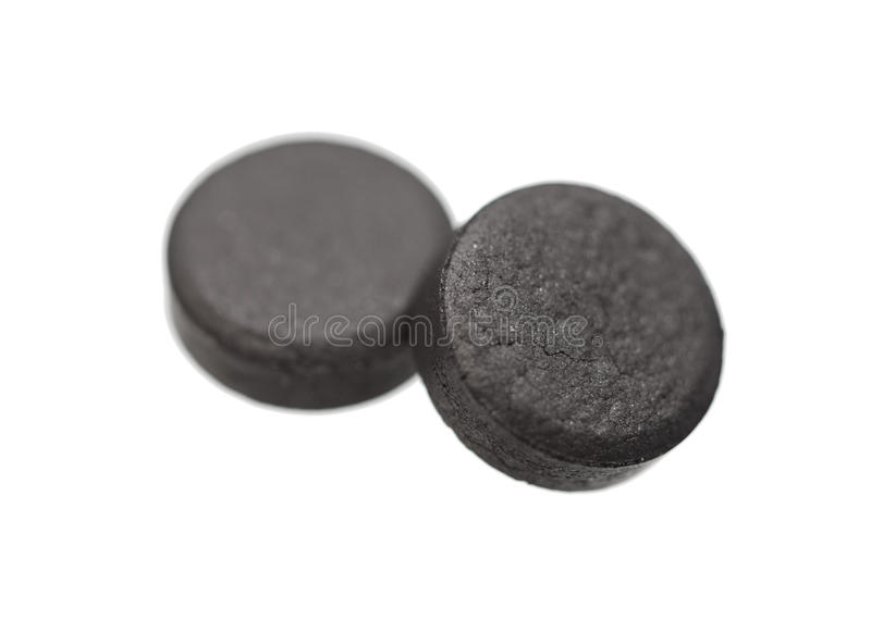 Medical tablets absorbent carbon royalty free stock photos