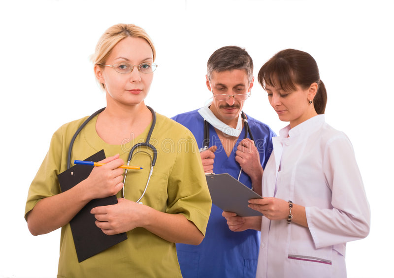Download Medical team stock photo. Image of healthcare, isolated - 4107202