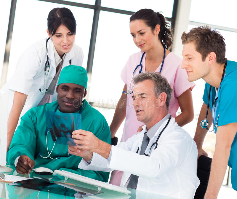 Download Medical Team Discussing In An Office Stock Image - Image: 9704337