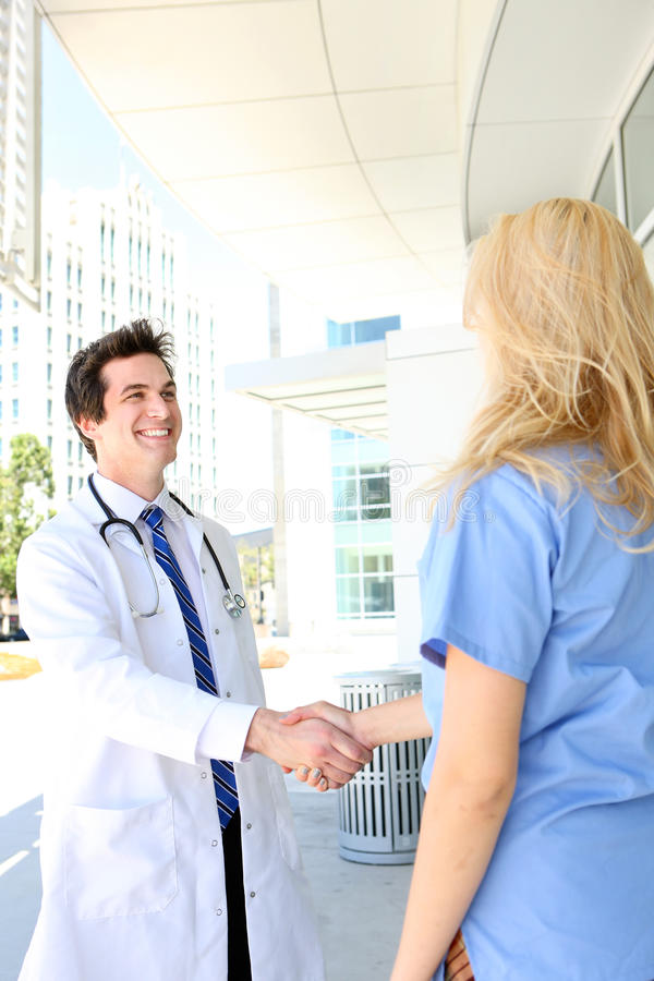 Medical Team Handshake stock photography