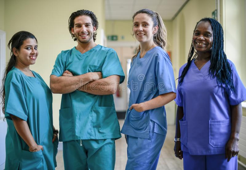 Medical team at a hospital royalty free stock images