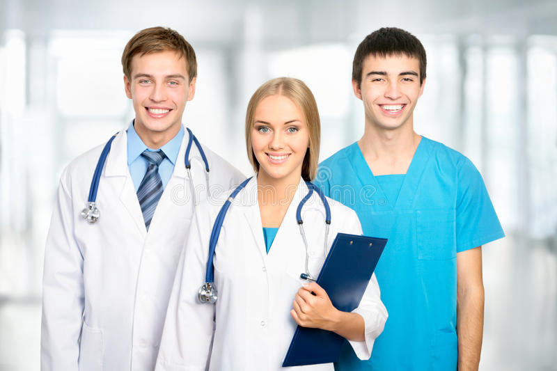 Medical team. In the hospital stock photos