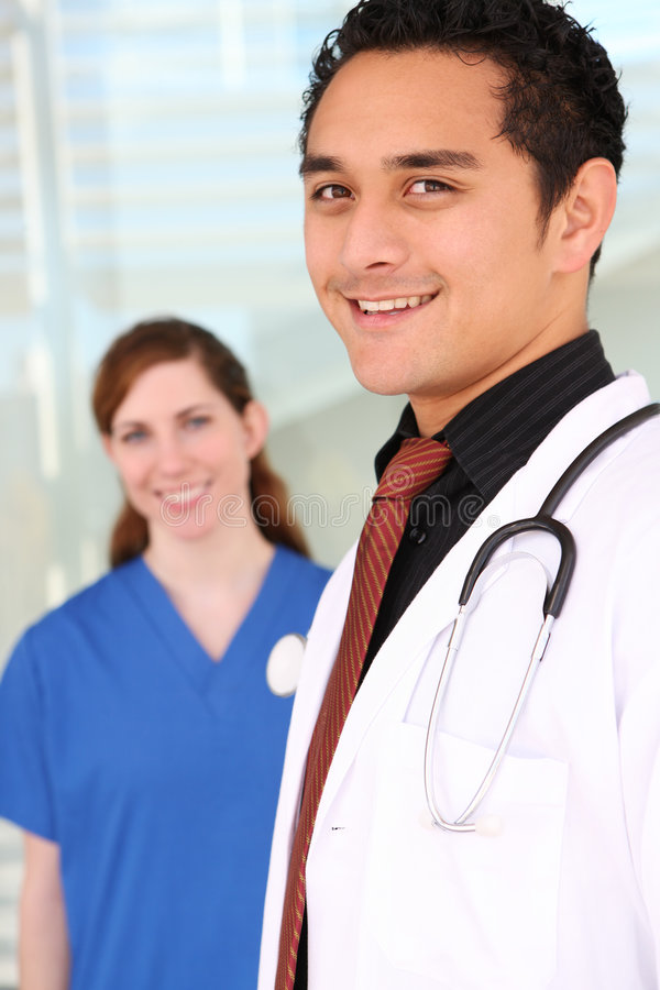 Medical Team at Hospital stock photography