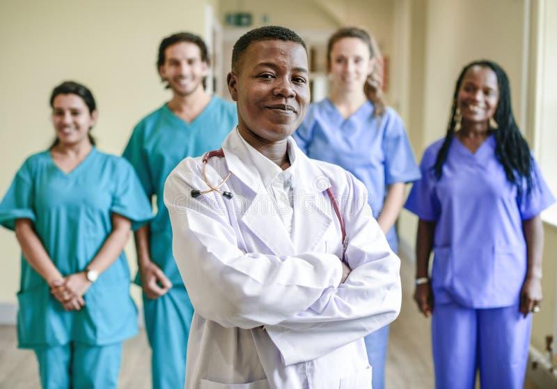 Medical team at a hospital stock photos