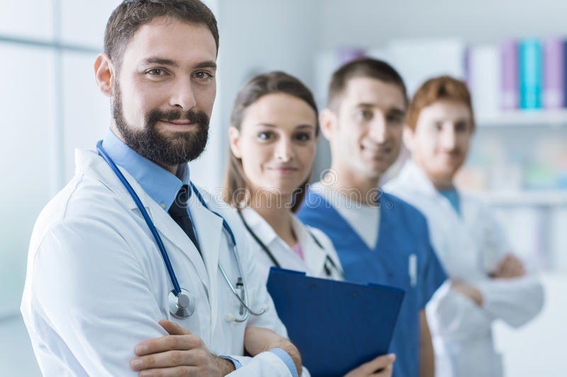 Medical team at the hospital royalty free stock photo
