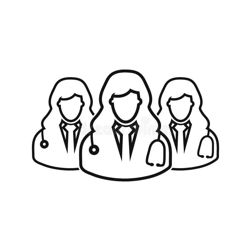 Medical Team line icon. Vector EPS vector illustration