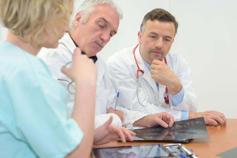 Medical team meeting at hospital. Medical team meeting at the hospital royalty free stock photography