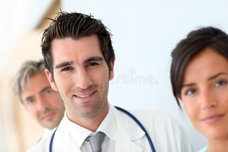 Medical team portrait stock photography
