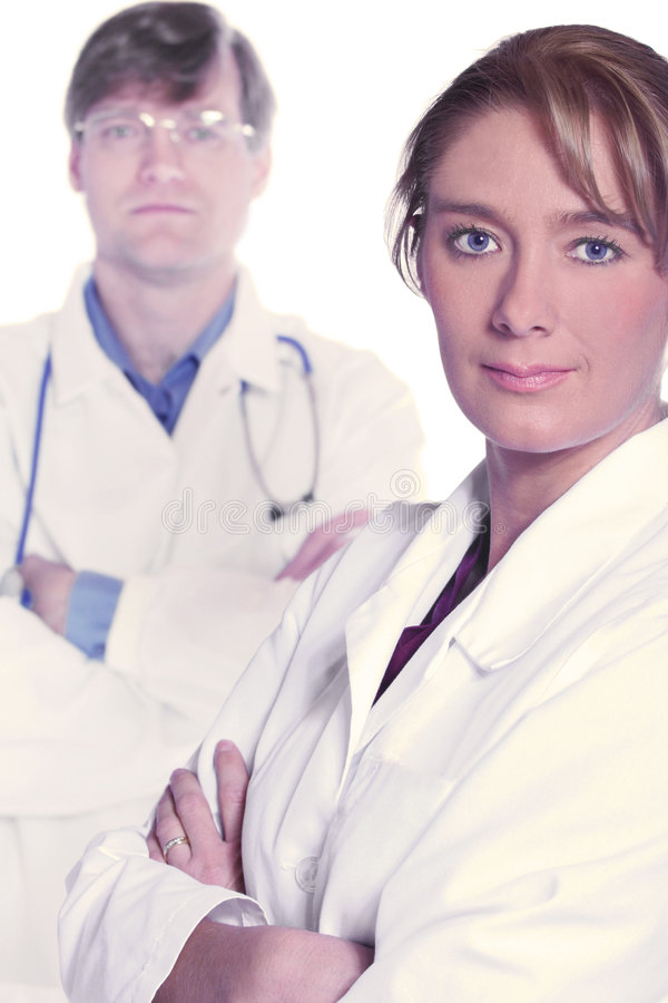 Medical team of serious doctors royalty free stock image