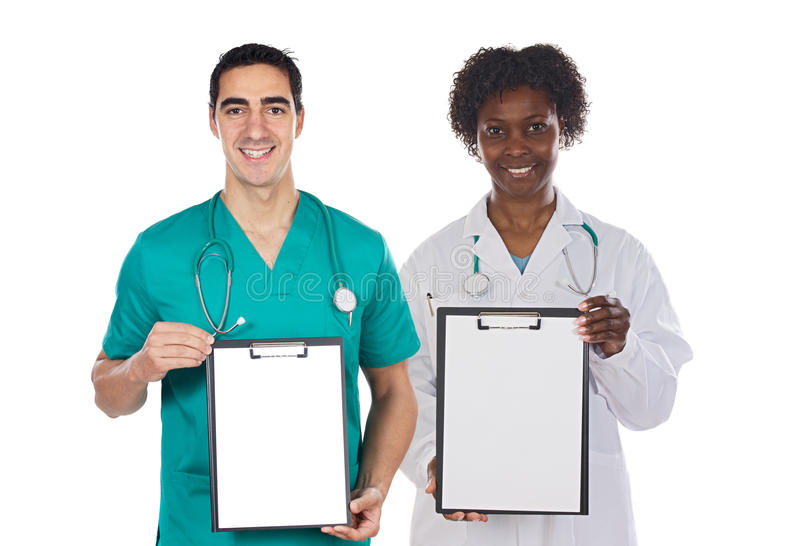 Download Medical Team Whit Clipboard Stock Image - Image: 9610523