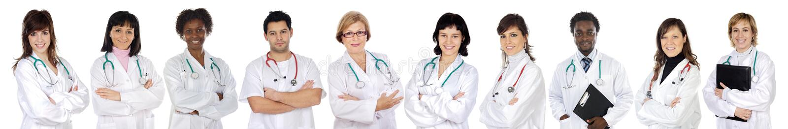 Medical team of woman stock photography