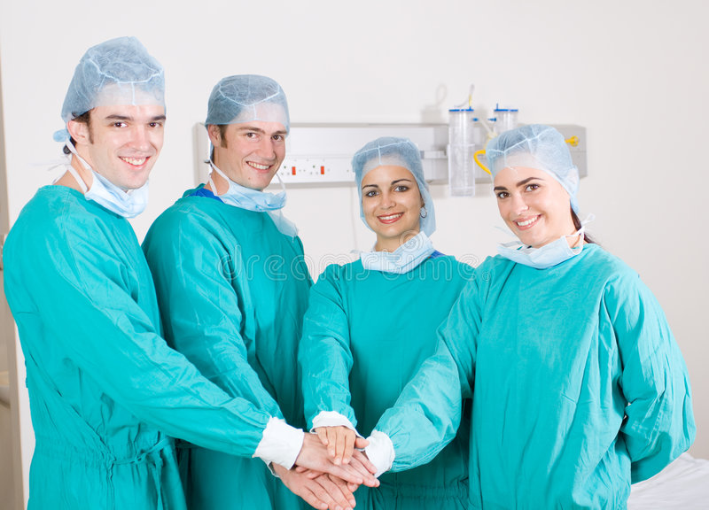 Medical teamwork royalty free stock photos