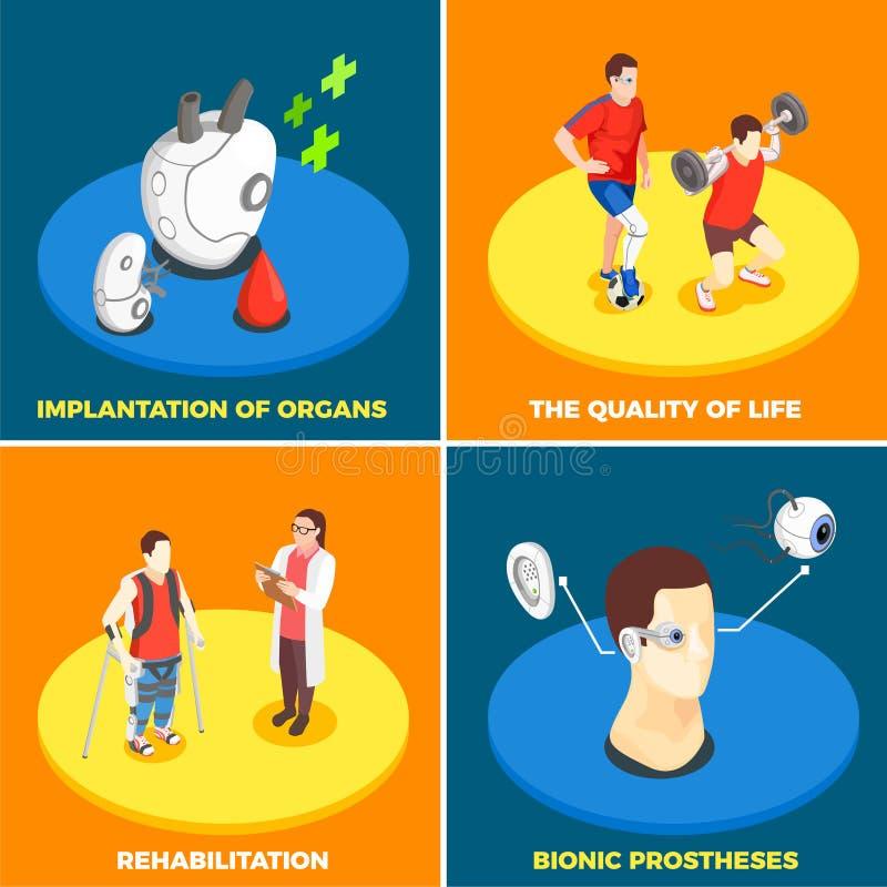 Medical Technology 2x2 Design Concept royalty free illustration