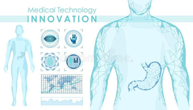 Medical technology innovation vector banner template. Futuristic medicine, professional treatment, diagnostics center vector illustration