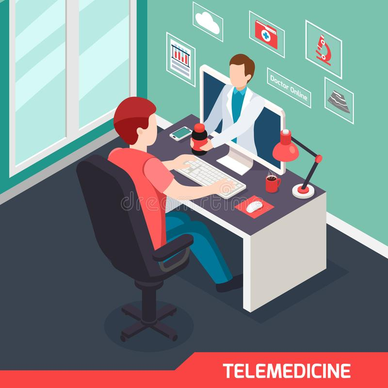 Medical Technology Isometric Composition royalty free illustration