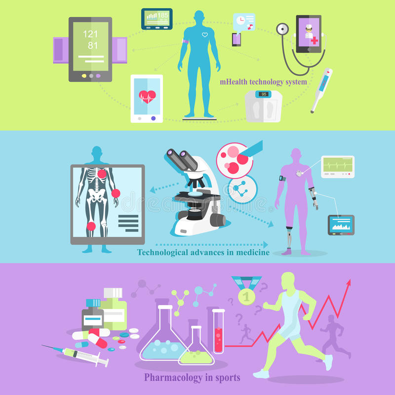 Medical Technology and Pharmacology Research. Science pharmacology, mobile, biotechnology laboratory, analysis and diagnostics, measurement and advances system vector illustration