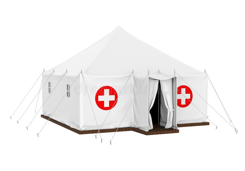 Medical Tent Isolated. On white background. 3D render vector illustration